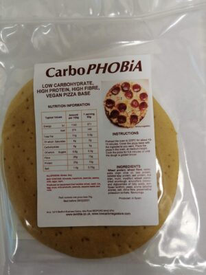 Carbophobia low carb pizza base